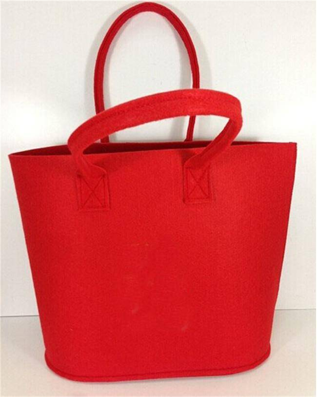 factory direct selling eco-friendly felt handbag, non-woven tote bag