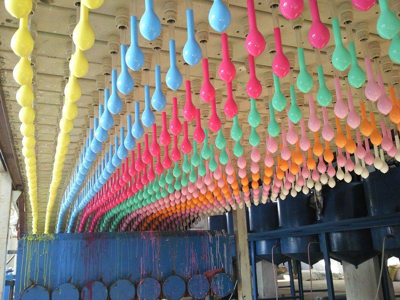 Many specifications of toy balloons production line