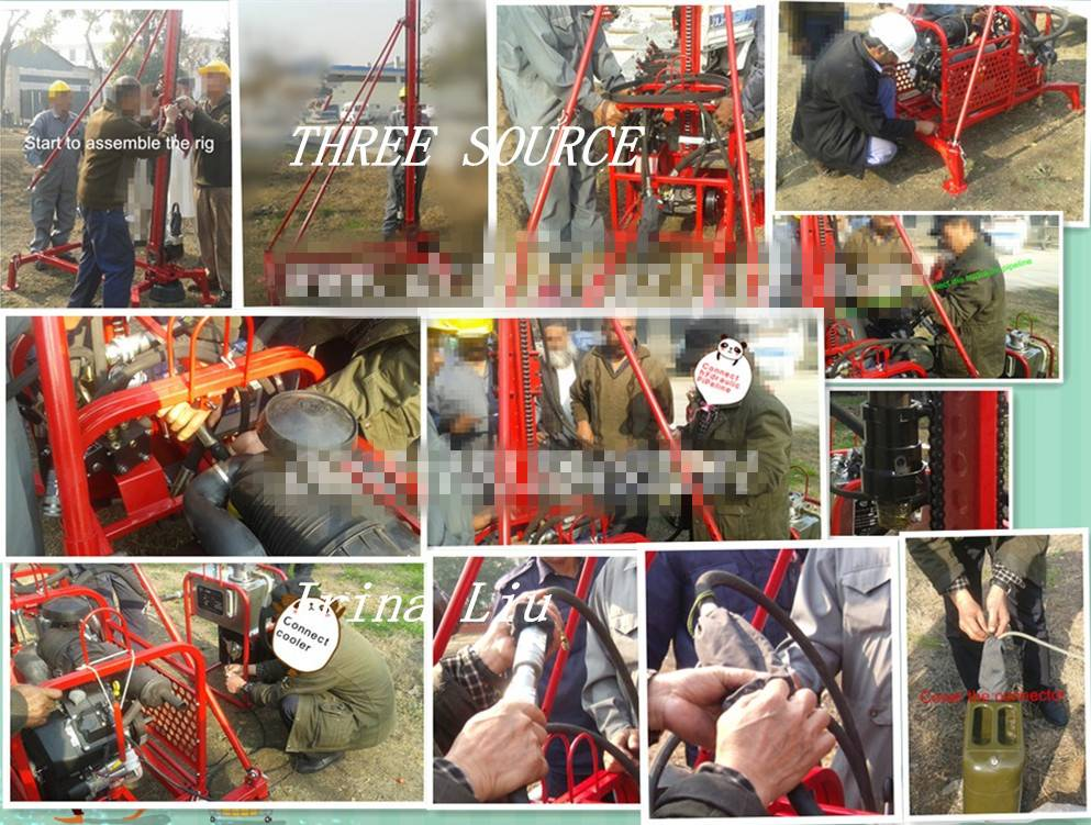 Light weight man portable drilling rig