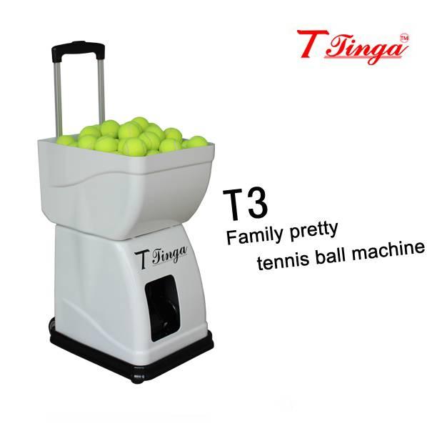 Family pretty tennis ball machine