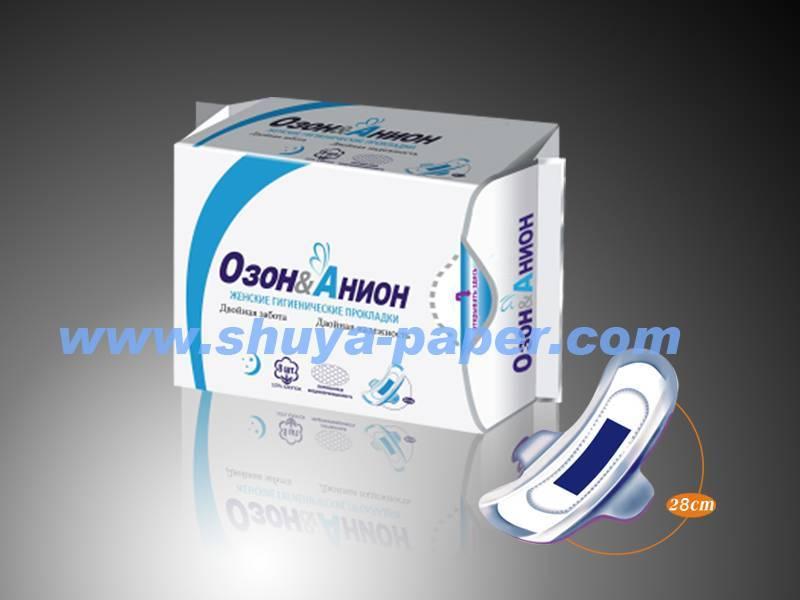Soft cotton anion sanitary napkin