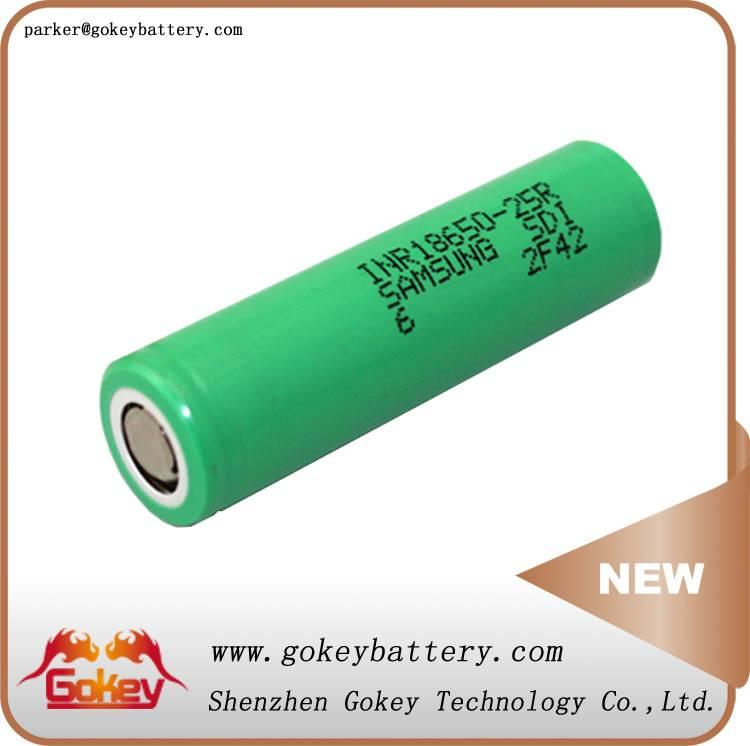 Samsung 25R INR18650-25R 2500mah 3.7v 20A lithium ion battery