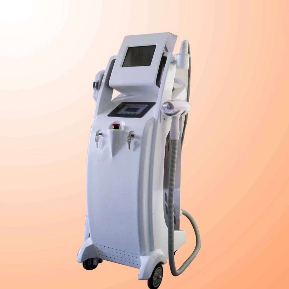 integrated e-light hair removal+rf face lifting+laser tattoo removal