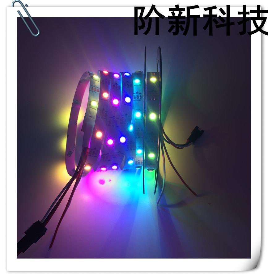 Jercio XT1505(similar to WS2812) 144leds/pixels/m Flexible White PCB Individually Addressable LED