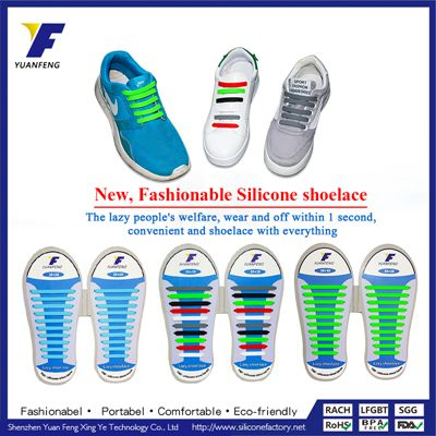 Lazy Elastic No-tie Shoelaces for Silicone Plastic Shoe lace