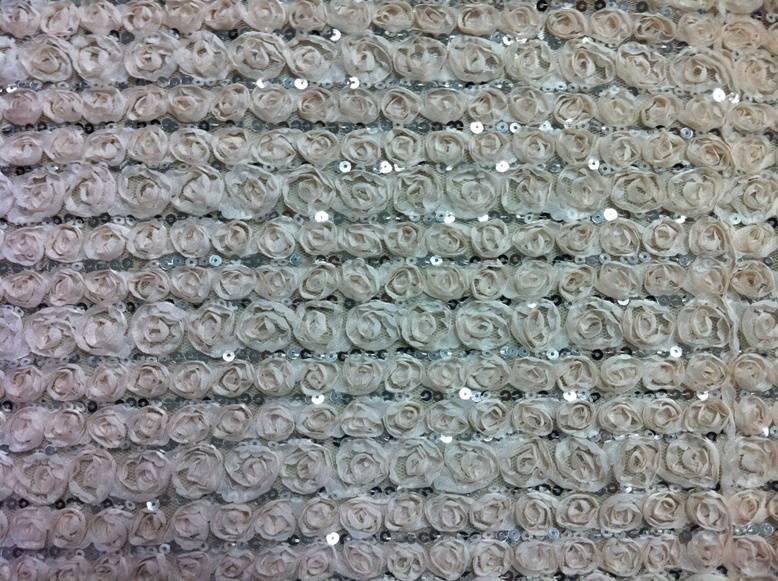 flower sequins fabric