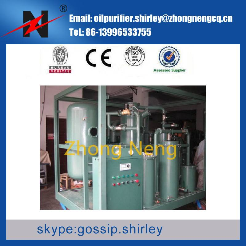 On Site clean transformer Oil/ insulation oil purification machine/ filtering series ZYB