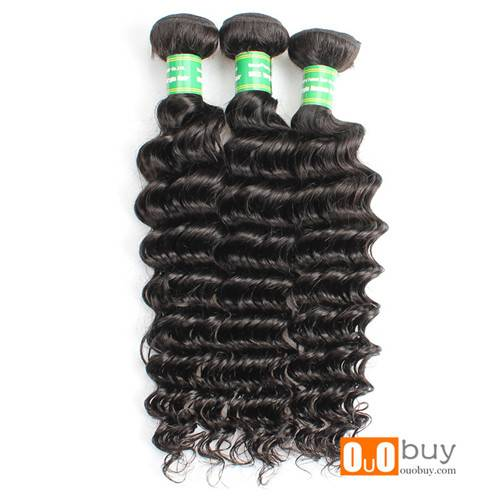 Selling Natural Color 8-28inches Virgin Peruvian Deep Wave 7A Hair Weaving With Best Quality