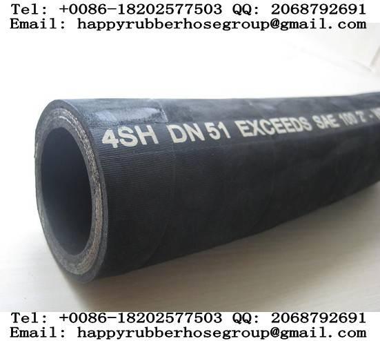 Steel Wire Spiral Reinforced Hydraulic Rubber Hose (DIN-EN 4SH)