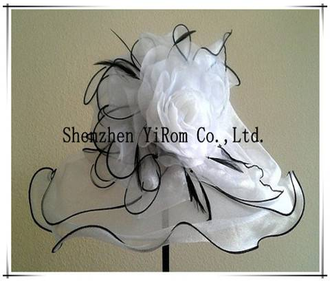 YRSM13092 organza hat, church hat, occasion hat, race hat
