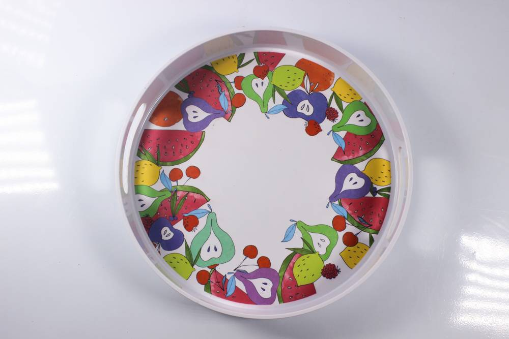12'' ear drip melamine tray