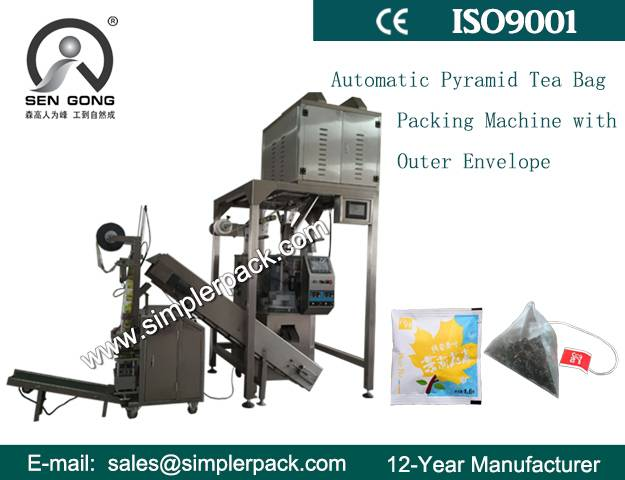 Tea Packaging Machine with Triangular Inner Nylon Mesh and Rectangle Outer Bag