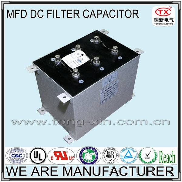 2014 Best Seller Low ESR and Anti-explosion 750V-10KVDC MFD DC FILTER CAPACITOR