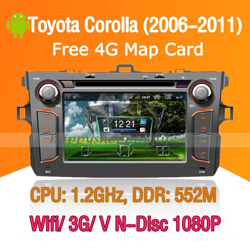 Android Car DVD player with GPS 3G Wifi for Toyota Corolla