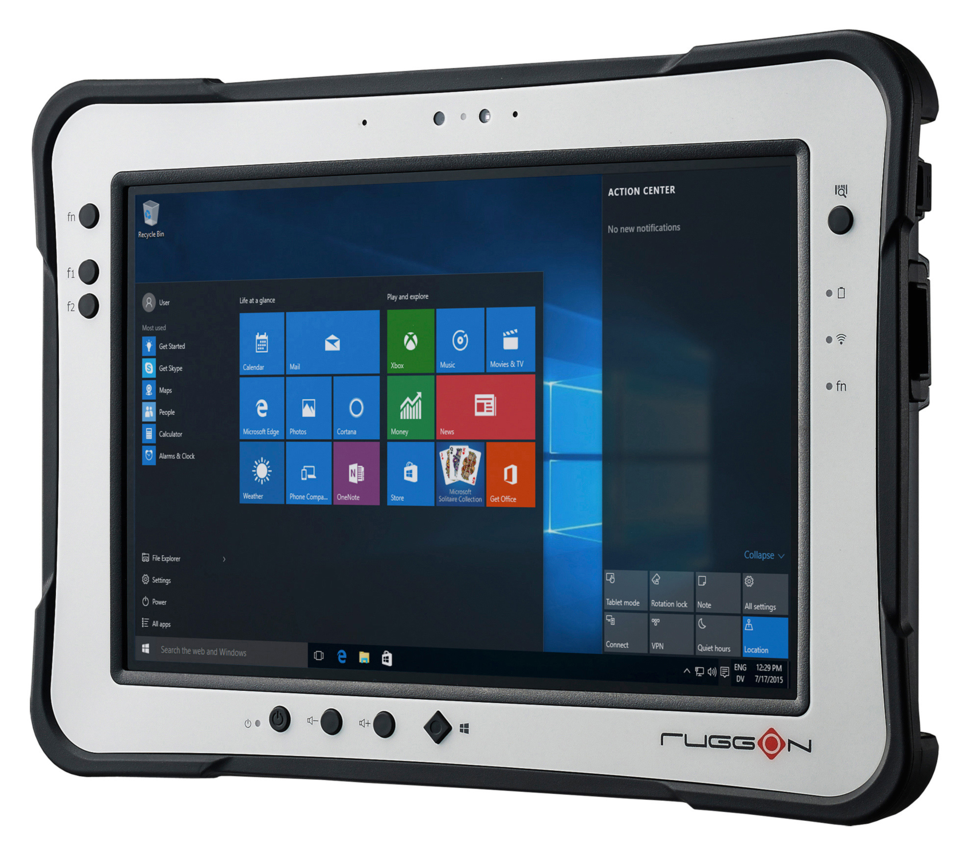 10.1 inch, IP65, MIL-810G, 5 feet drop resistant,rugged tablet
