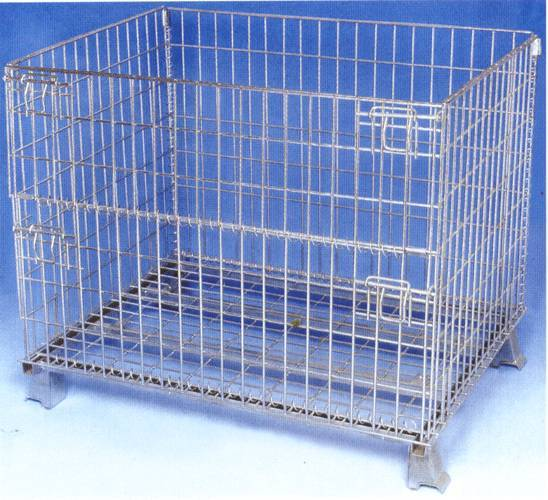wire storage cage,mesh warehouse cage,steel wire container