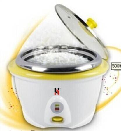 Drum rice cooker in whole plastic