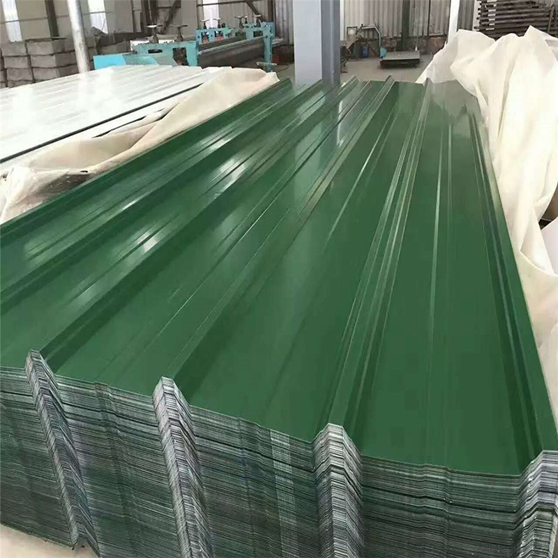 Green 0.17mm Thickness T Profiled PPGI/PPGL Roof Sheets for Construction