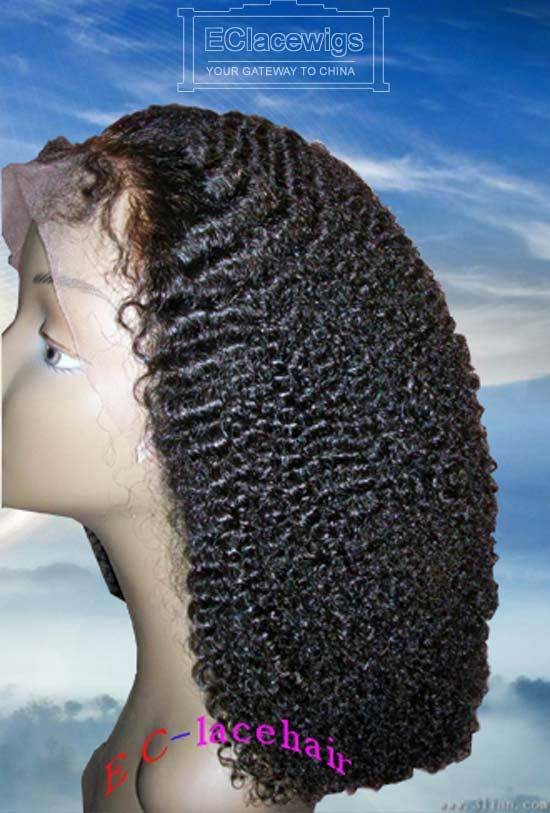 Wholesale Afro Curl Indian Brazilian Virgin Human Hair Lace Wigs