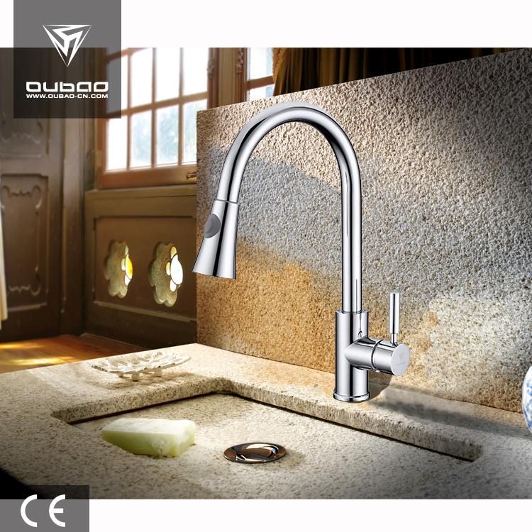 Hotel Royal Gooseneck Faucet Luxurious Pull Out Kitchen Faucet Mixer