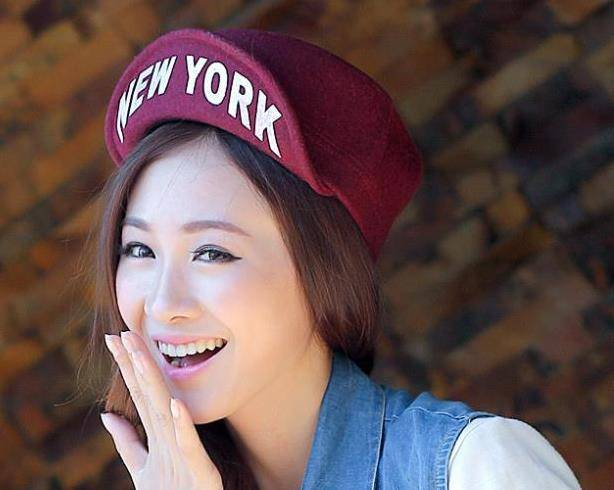 2014 Korean winter days in new york letters turned hip-hop baseball cap flat brimmed wool hats for m