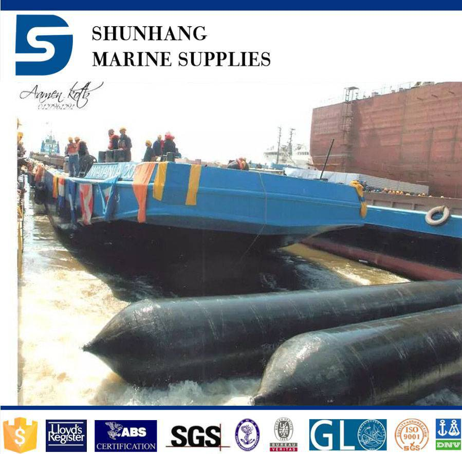 Customized Ship launching marine inflatable rubber airbag