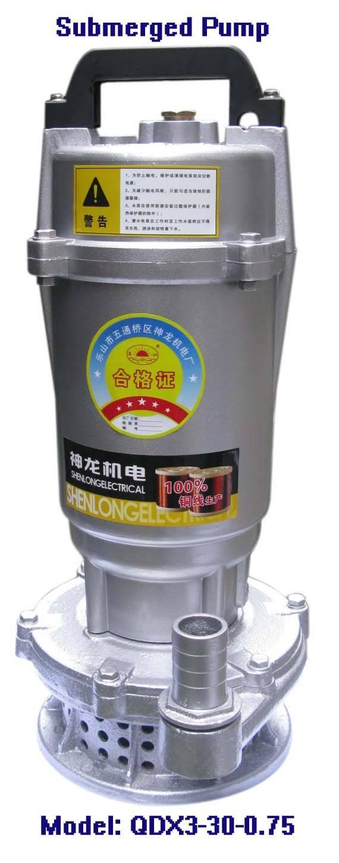Electric Submerged Pump-QDX3-30-0.75