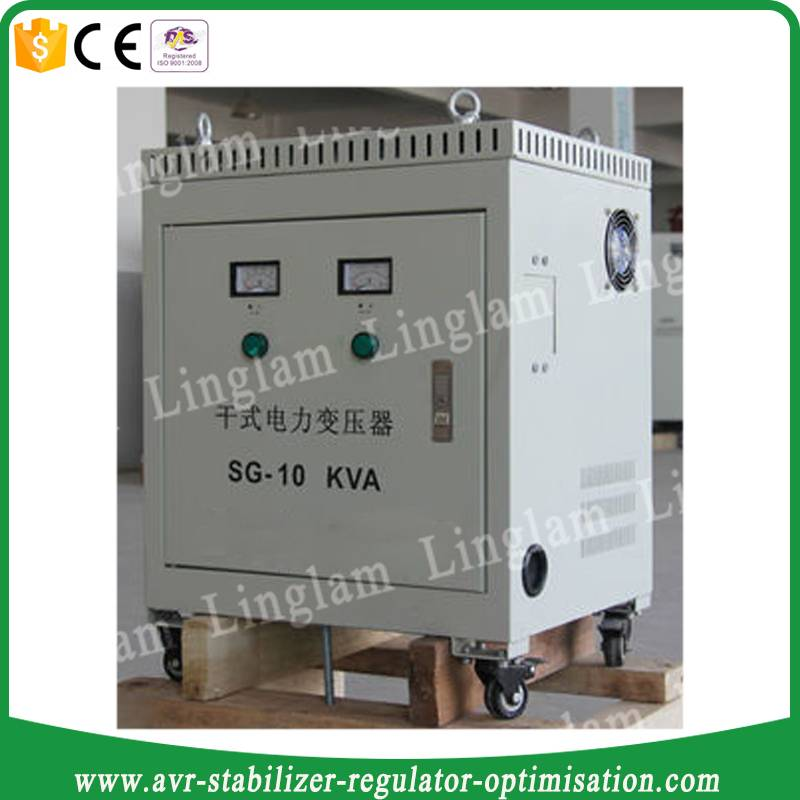 10kva 440v to 220v three phase transformer