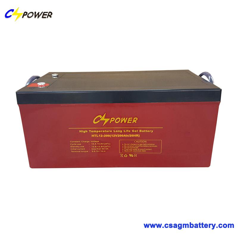 12V 200ah Solar Gel Deep Cycle Battery Htl12-200