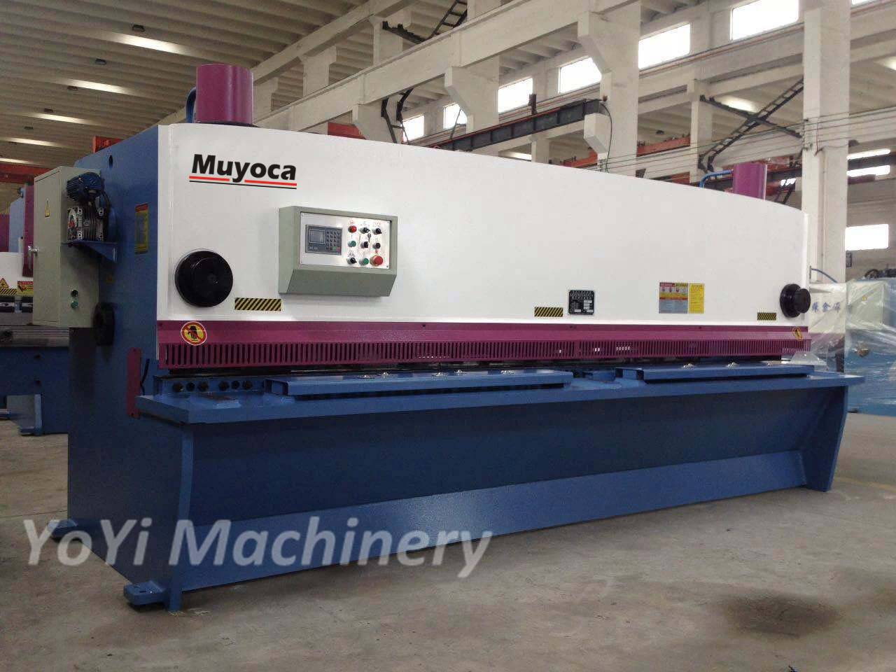 12mm 4000mm hydraulic guillotine cutter machine
