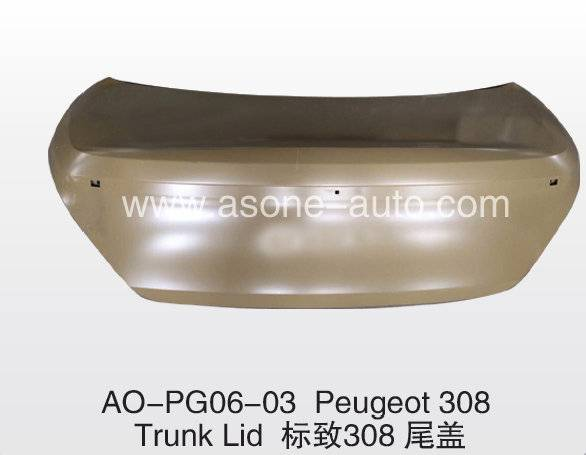 Trunklid For Peugeot 308 Auto Body Parts