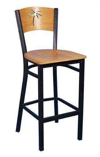 Classic Wood Back Bar Chairs All-209BS-2