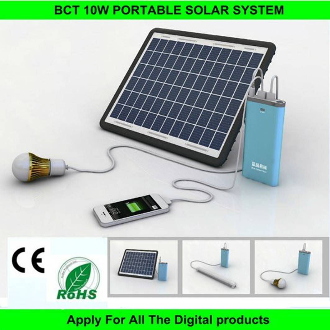 10watt led solar lighting system