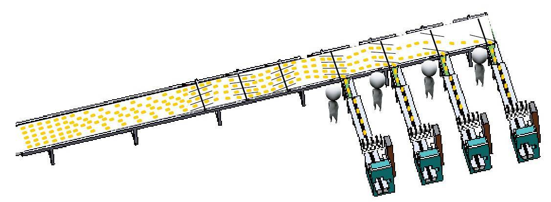 Multi-channel automatic feeding & packing line