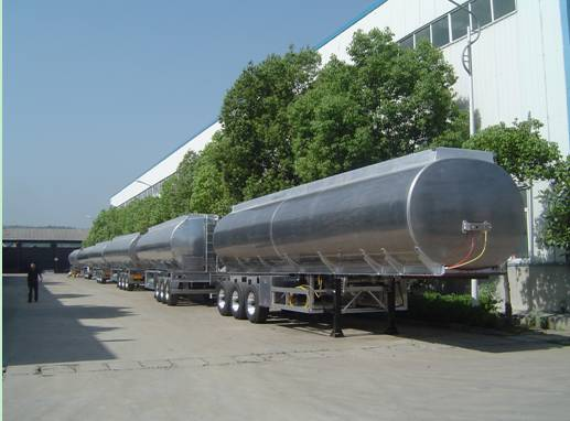 4 Axle 55000L Aluminum Fuel Tanker Semi Trailer