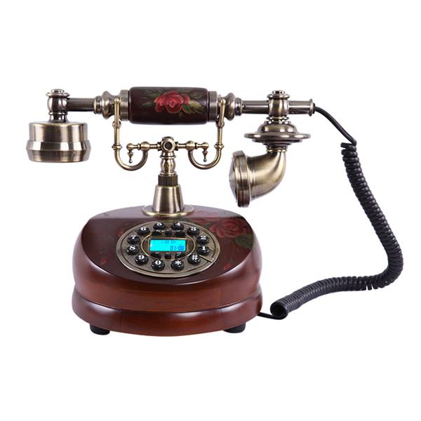 Home Decoration Antique Telephone Resin + solid wood Telephone MS-6200B