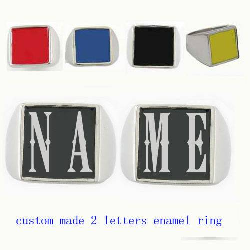 custom made 2 initials letters name ring