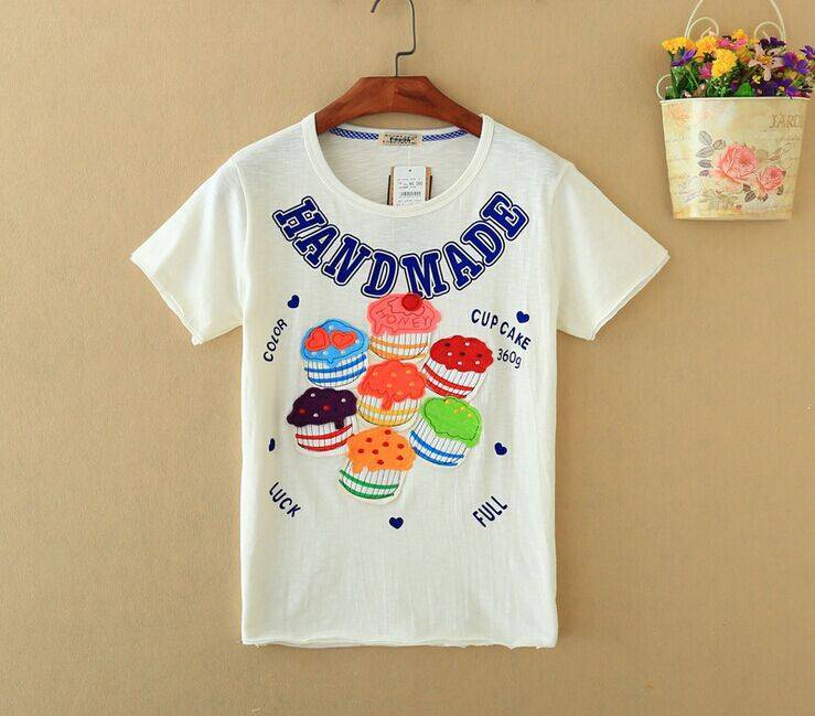 2015 New Lady Cup Cake Short SleeveT-Shirt