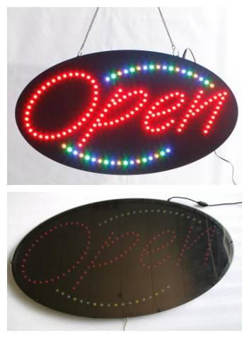 High brightness LED open sign