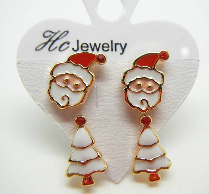fashion zinc alloy Christmas gift earrings