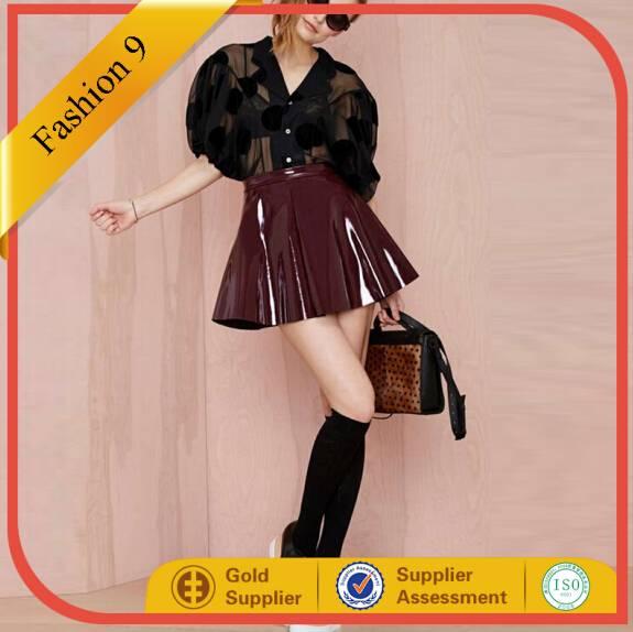 Glamorous Vinyl Frontier Skater Skirt