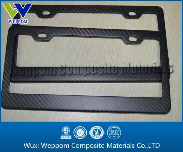 Best Selling Carbon Fiber License Plate Frame