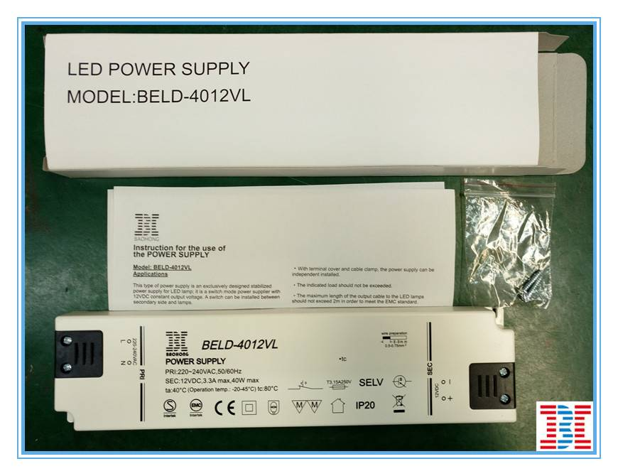 40W12V LED driver / power supply manufacturer in China