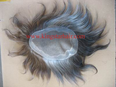 Top grade human hair replacement for man
