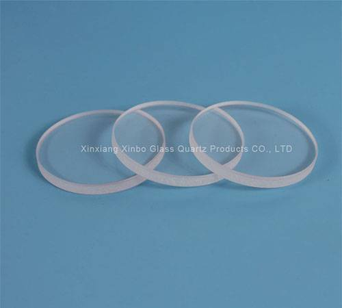 Fire-polished grinding Crystal borosilicate toughened Glass lenses