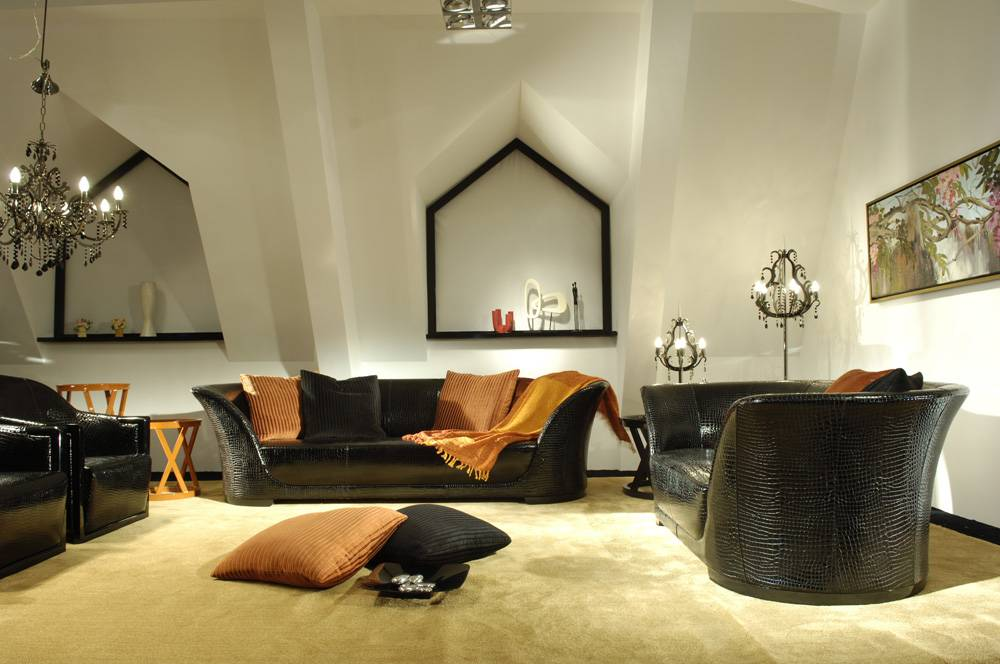 High Gloss Genuine Leather Sofa Sets - Jl&C Furniture