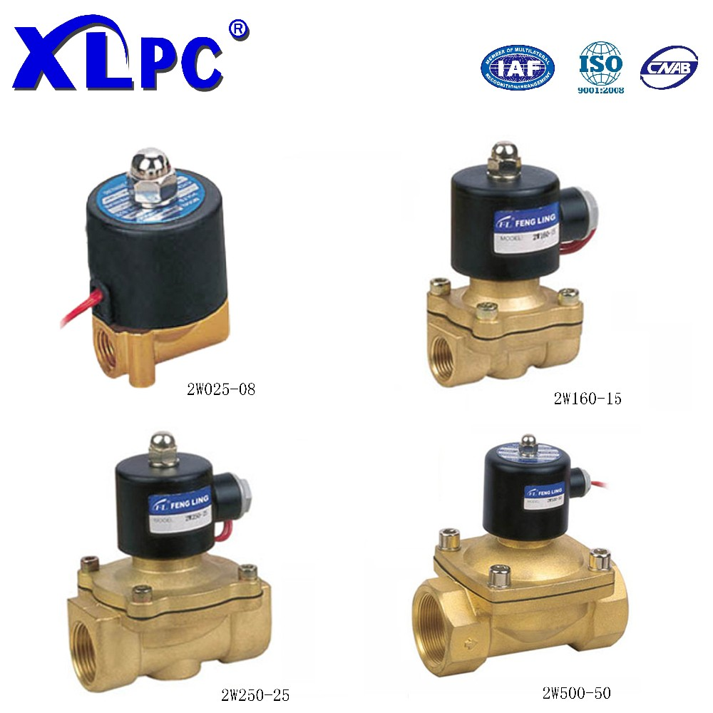 2W Series 2 Way Brass Normally Close Water Solenoid Valve