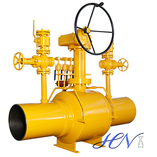 Welded Body Side Entry Motorized Natural Gas Ball Valve