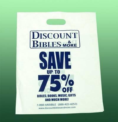LDPE white printed Plastic shopping Bag