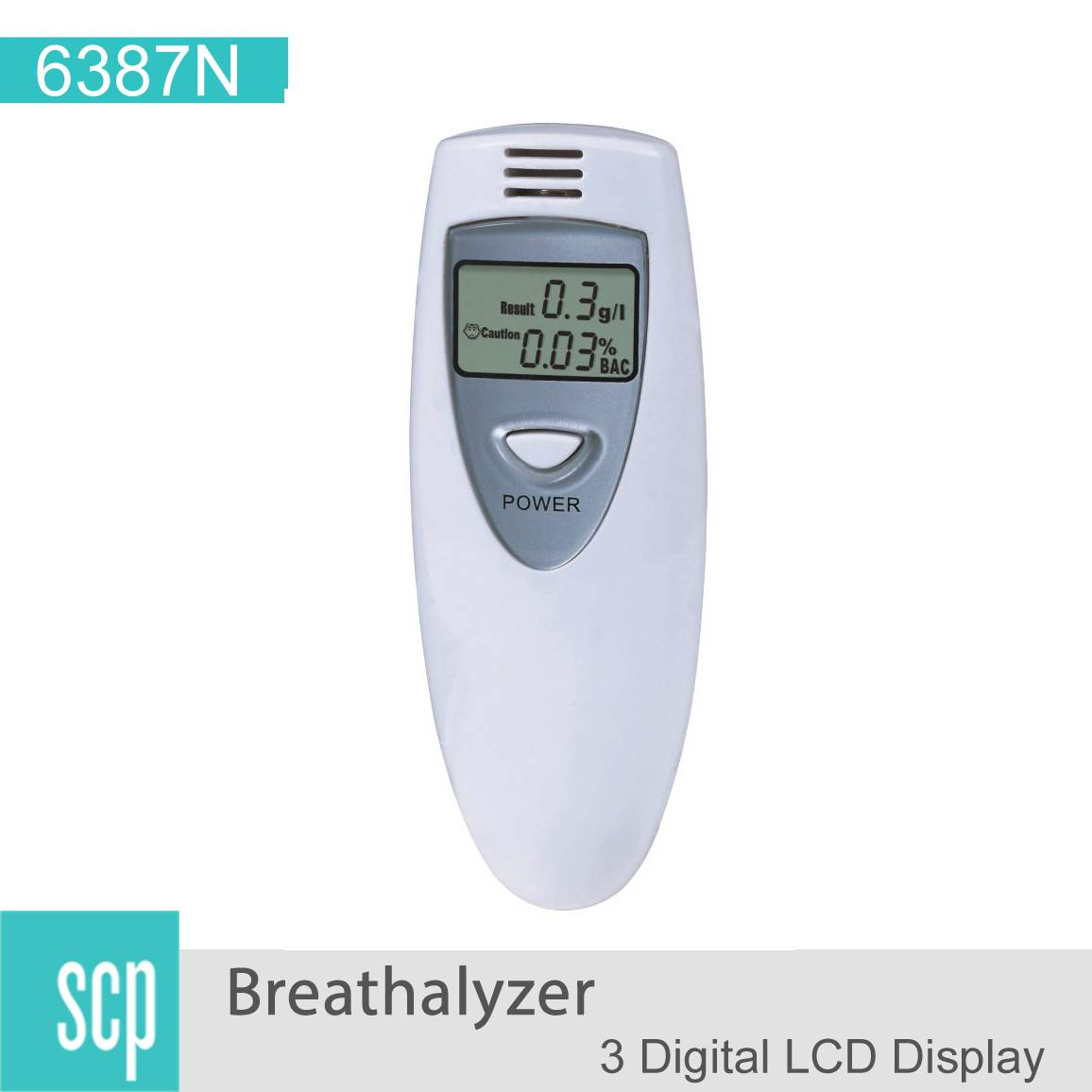 Cheap Popular Digital LCD Display Alcohol Tester - 6387
